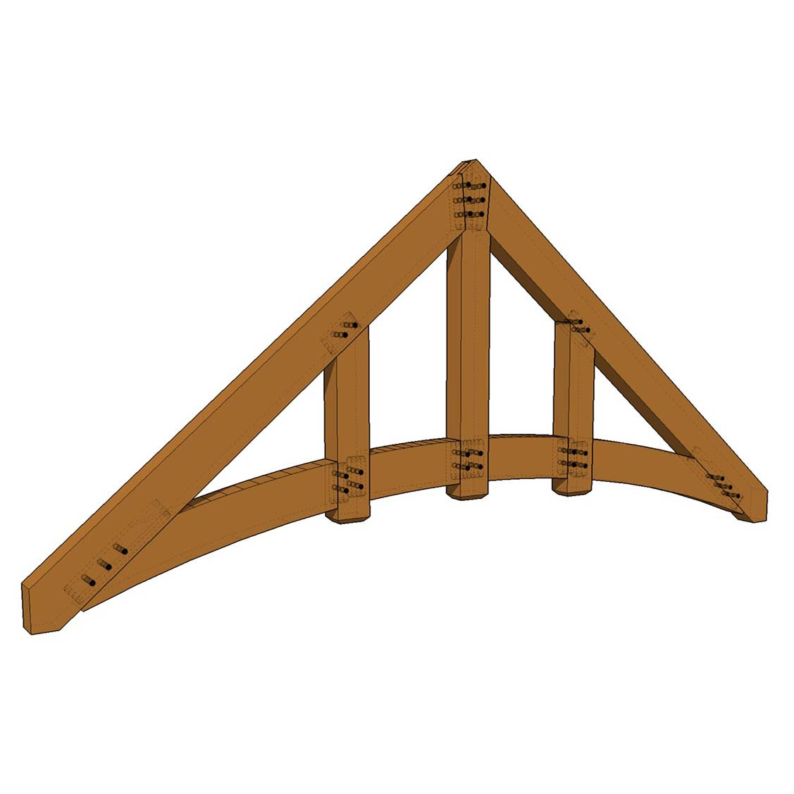 Truss: Arched Queen Post