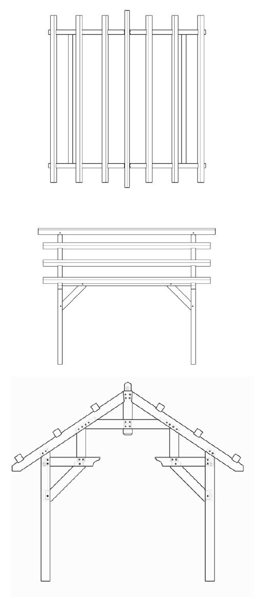 Pavilion - Hammer Beam with Purlins